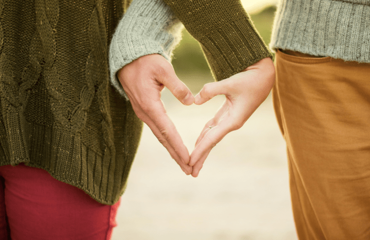 long lasting love heart hands