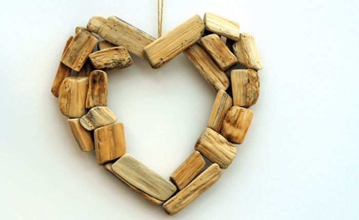 wooden blocks in shape of heart