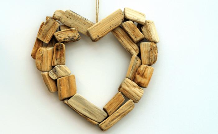wooden blocks in shape of heart