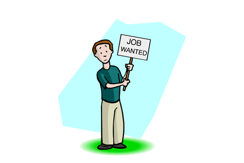 person holding job wanted sign