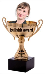 AUWU bullshit award sarah martin, reporter