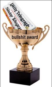 AUWU bullshit award daily telegraph, newspaper