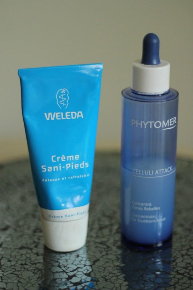 crème pieds Weleda, cellule attack phytomer