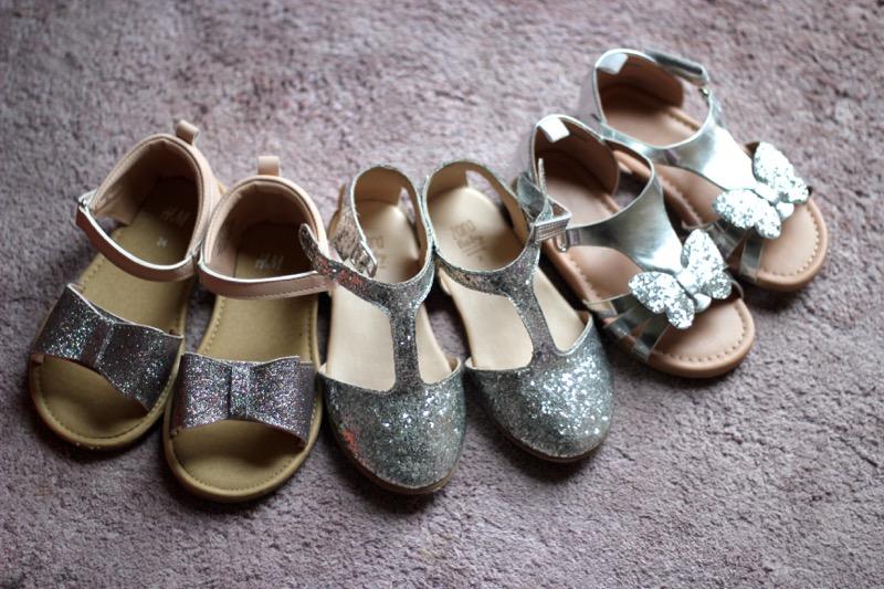 chaussures-filles-argent