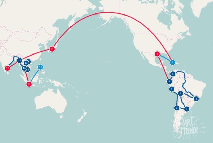Tour du monde : établir son Itinéraire