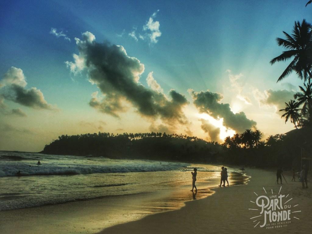 plage Mirissa sunset