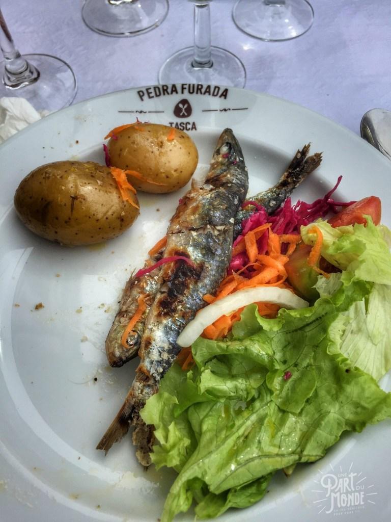 gastronomie à porto Afurada-sardine