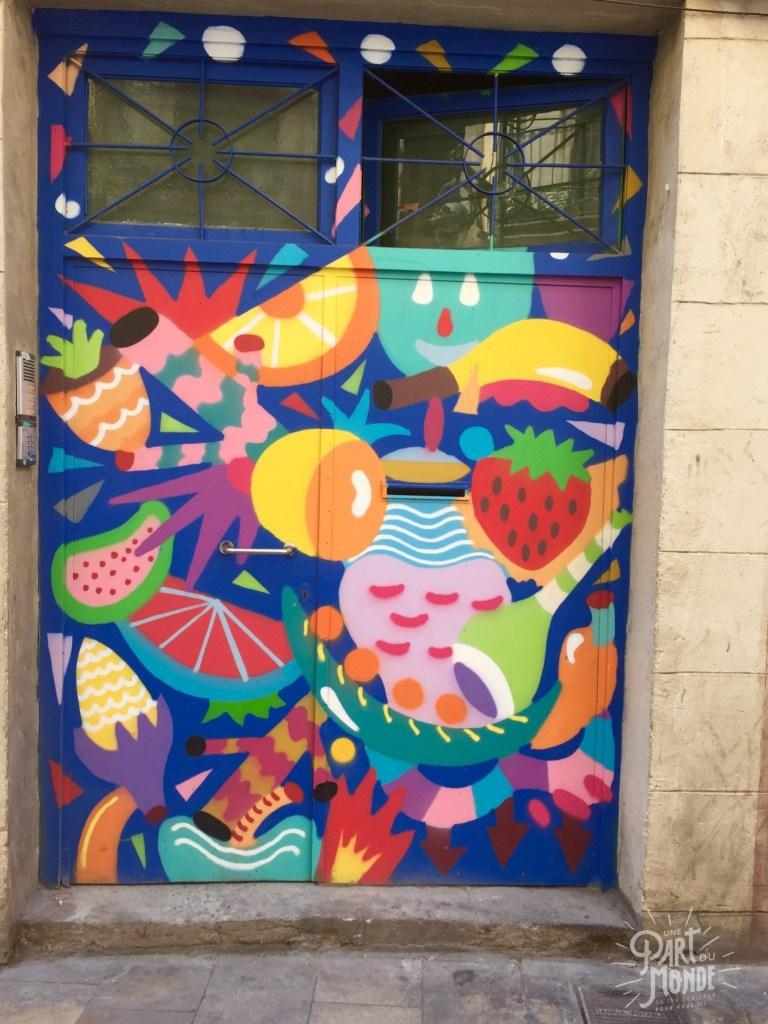 street art barcelone coloré