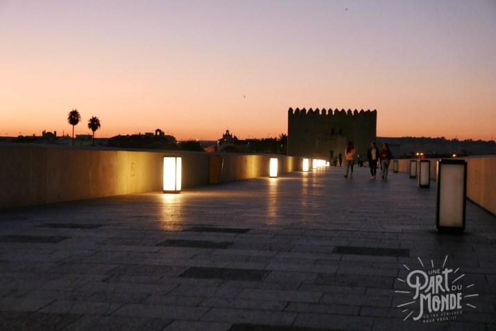 pont rome coucher soleil cordoue
