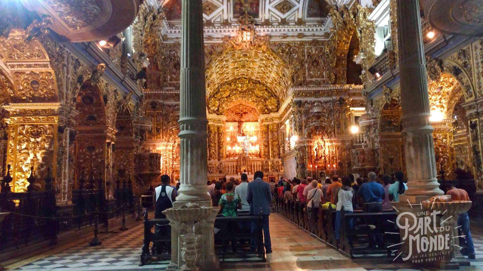 intérieur eglise sao francisco salvador de bahia