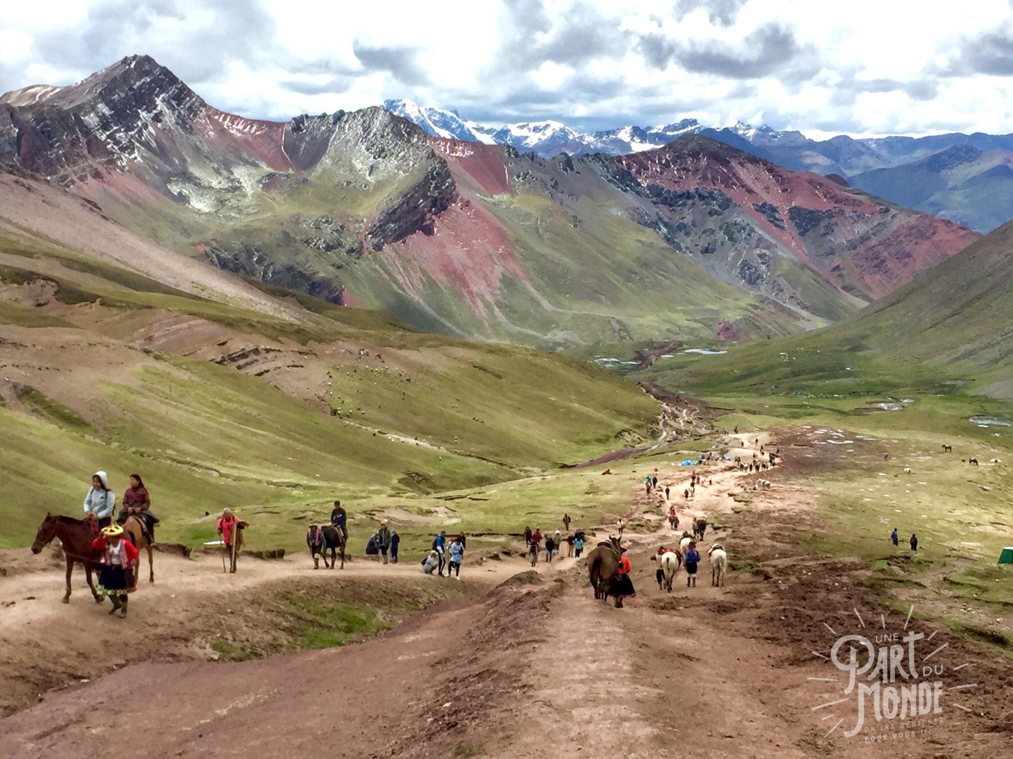 7 mois de voyage rainbow mountains