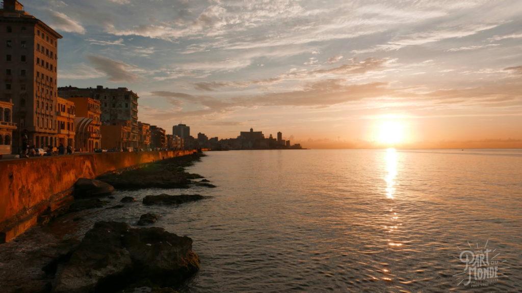 sunset la havane 11 mois de tour du monde