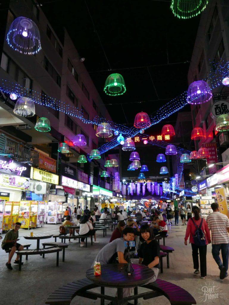 night market taichung illumination