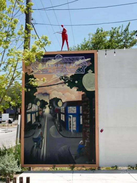 bishop art dallas mur