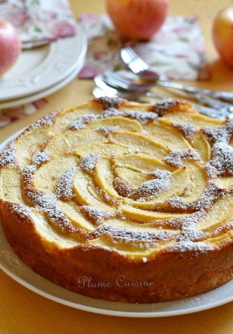 Gâteau-pommes-peu-calorique