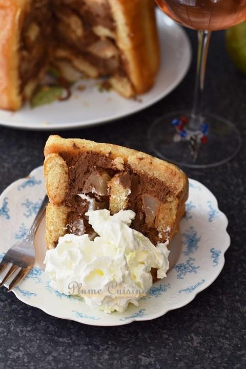 Charlotte-poire-chocolat-recette