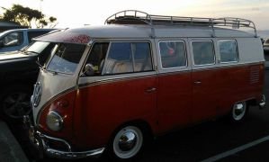 Campervan on a road trip in Australia