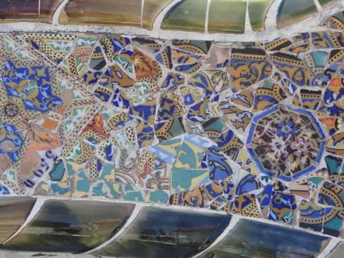 Mozaïeken van Gaudi in Park Gűell
