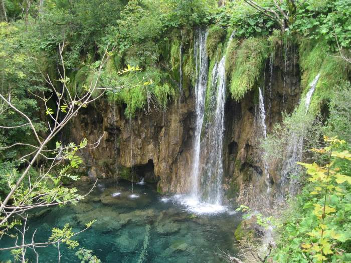 Watervallen in Plitvice