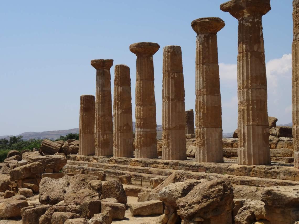 Zuilen van Hercules in Agrigento