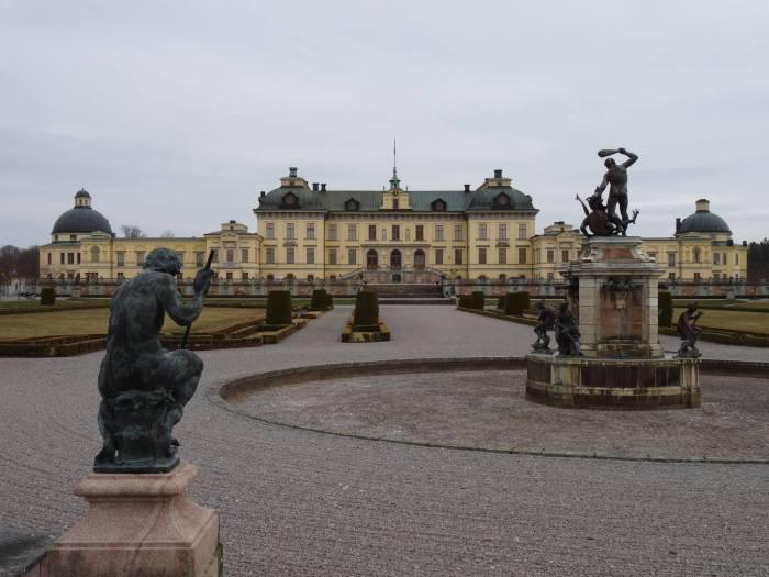 Paleis Drottningholm met Herculesfontein