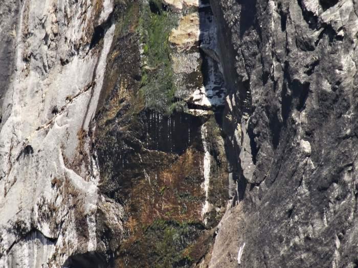 Een paar druppels, dat is alles wat er van de machtige watervallen in Yosemite overblijft tijdens de zomerstop