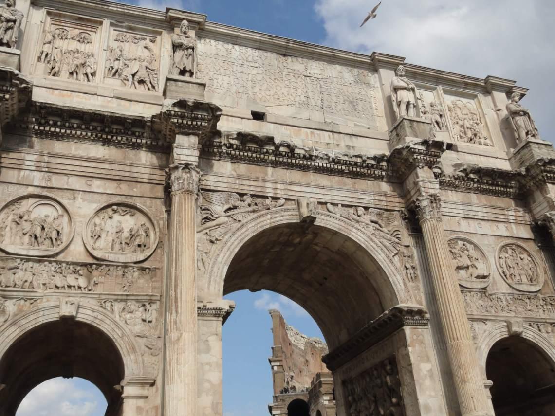 Triomfboog van Constantijn de Grote in Rome