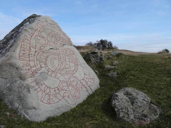 Runesteen op het eiland Hovgården