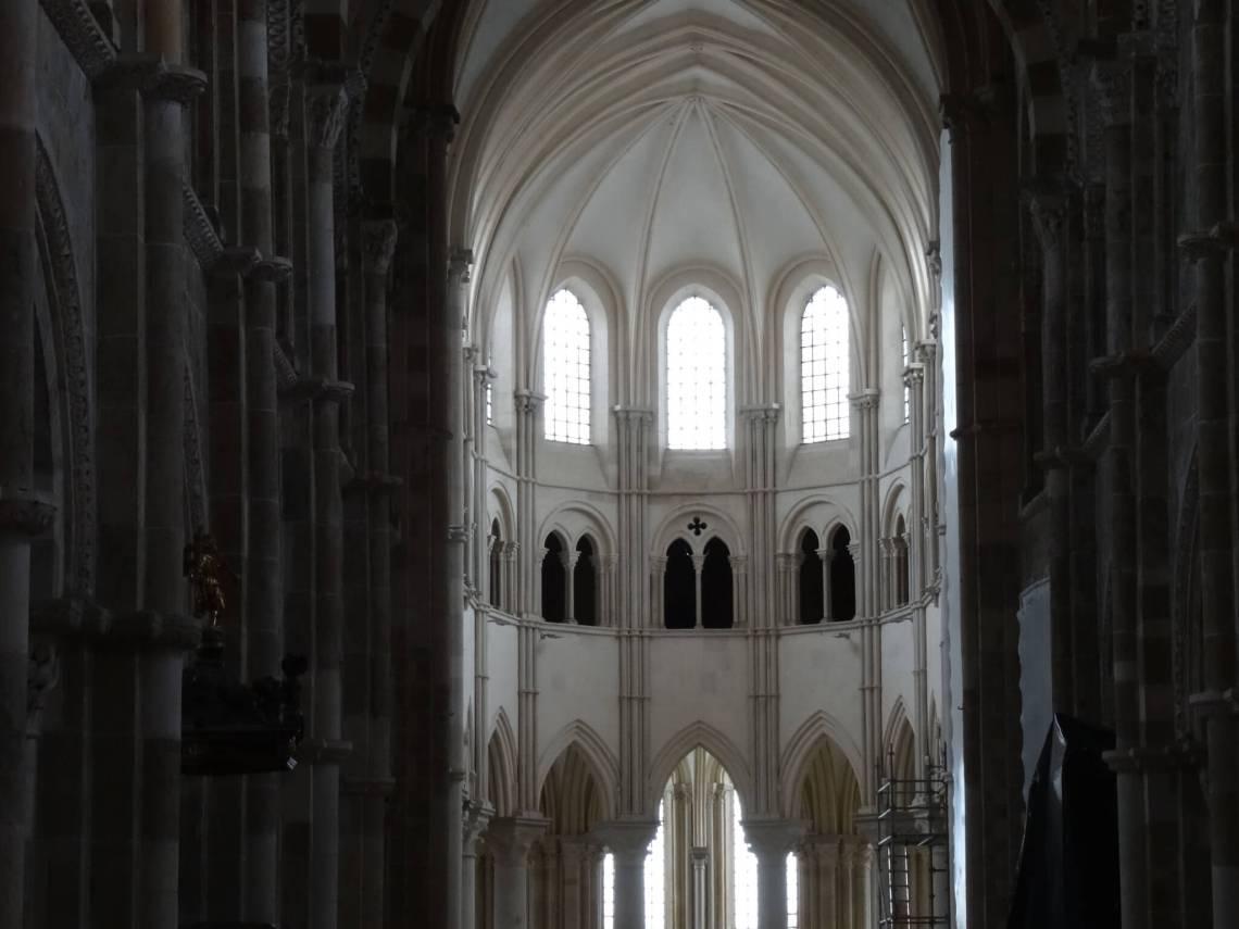 Koor in kerk van Vézelay