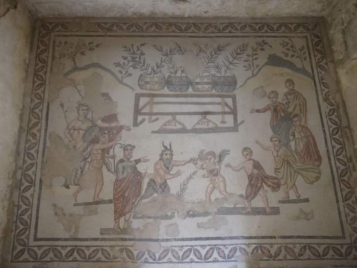 Mythologische mozaïeken in villa Romana del Casale
