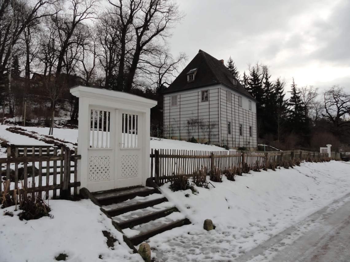 Goethes tuinhuis in de sneeuw