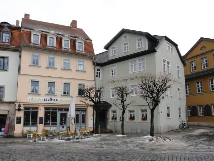 Kleurrijke huizen in Weimar