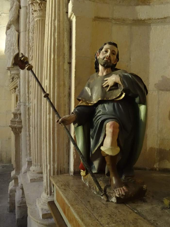 Sint Jacob met pelgrimsstat in kathedraal van Burgos