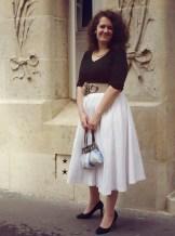 look grace kelly haut noir jupe blanche rear window look vintage