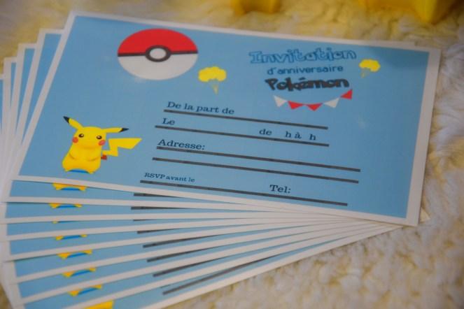 Anniversaire Cartes D Invitation Pokemon A Imprimer Gratuitement Free Printable Une Vie A 5