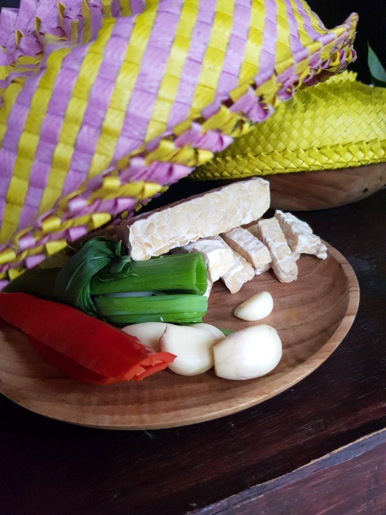Ingrédients de cuisine balinaise prêts à être cuisinés