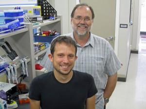 University of Utah anthropologists Justin Tackney and Dennis O'Rourke.