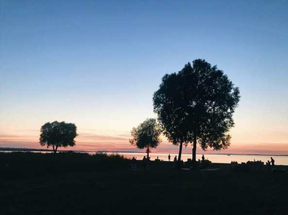 constance switzerland eurovelo sunset