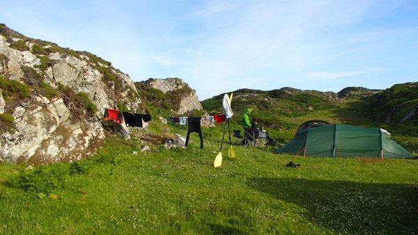 Camping in Raasay