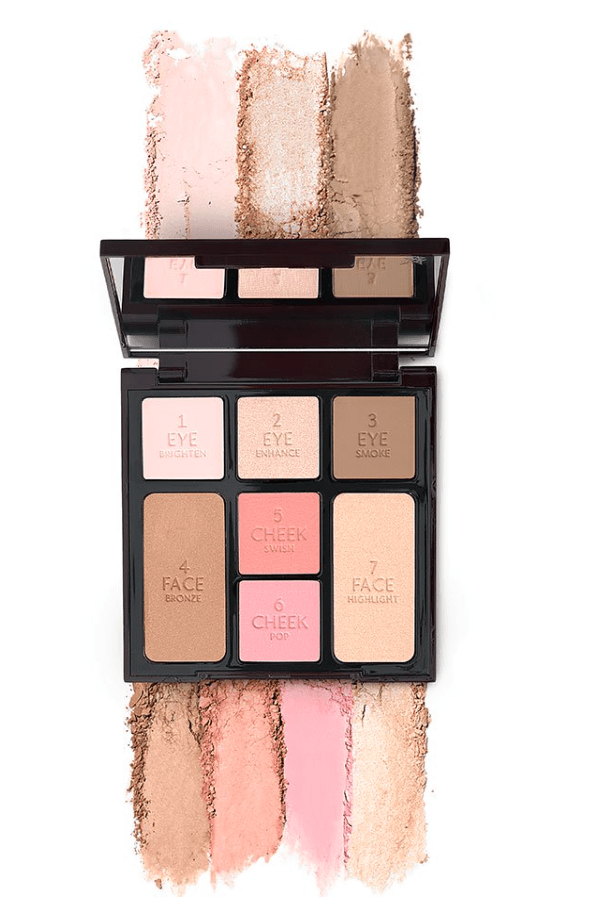Charlotte Tilbury swatches Look in a Palette