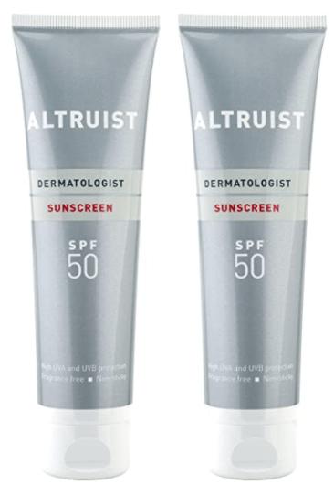 Altruist Dermatologist Sunscreen SPF 50 - high UVA protection, 100 ml (2 x 100 ml), SPF 50 100 ml