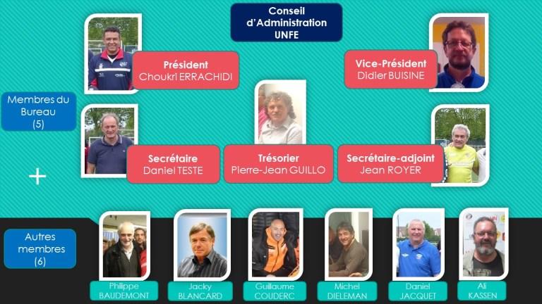 UNFE : 11 membres au travail