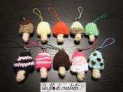 Ghiaccioli charm crochet