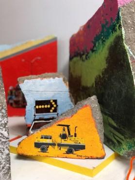 Detail of artwork in Raul's studio.