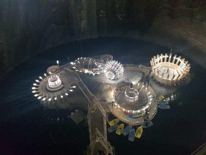 Salina Turda salt mine in Romania