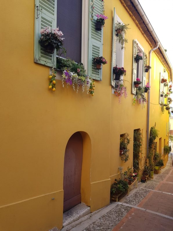The colourful houses of old town