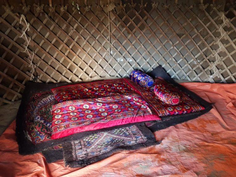 Sleeping arrangements in the Yurt