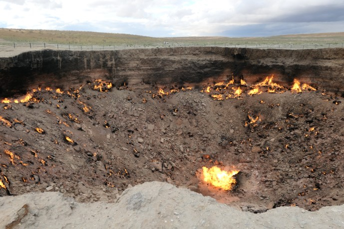 The door to hell- very different during the day
