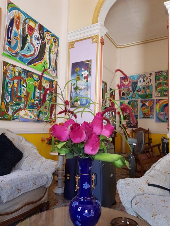Colourful seating area in our amazing Casa