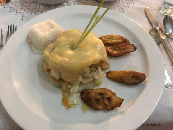 a course at Sol Ananda restaurant, Trinidad